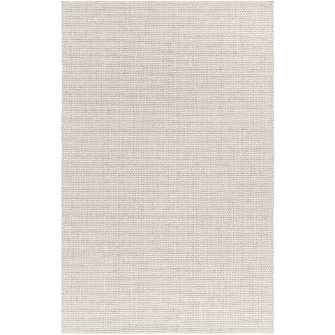 Hand-loomed Solid Casual Wool Area Rug - 6' x 9'