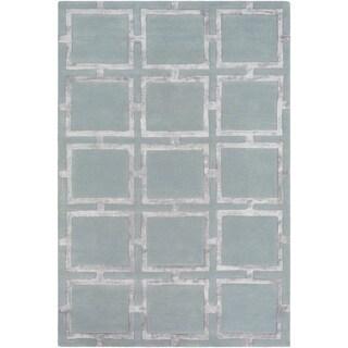 """Naiara Sage Modern Wool & Viscose Area Rug - 5' x 7'6"""""""