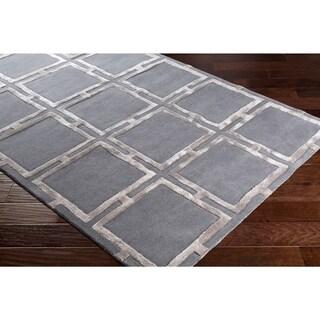"""Naiara Charcoal Modern Wool & Viscose Area Rug - 5' x 7'6"""""""