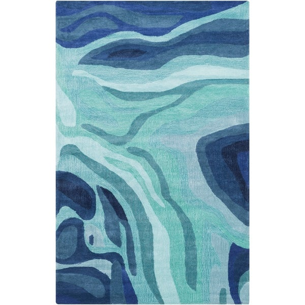 Hand-Tufted Meisner Abstract Pattern Indoor Area Rug - 6' x 9'
