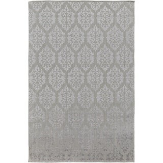 Wave Viscose/Wool Hand-knotted Area Rug - 6' x 9'
