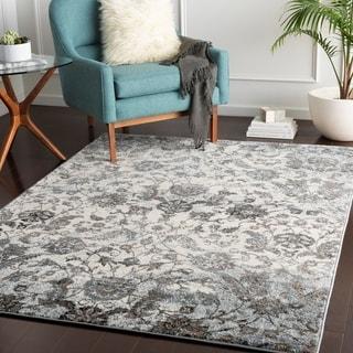 "Maike Blue & Grey Vintage Area Rug - 5'3"" x 7'3"""