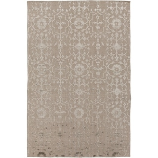 Hand-Knotted Wave Viscose Area Rug - 6' x 9'