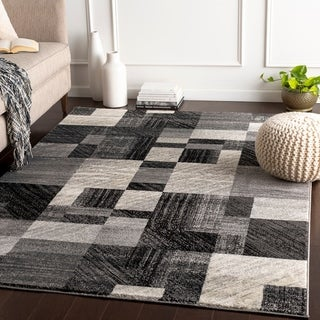 """Woven Colfax Geometric Patches Plush Area Rug - 5'3"""" x 7'6"""""""