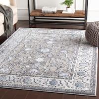 "Safira Blue & Grey Traditional Area Rug - 5'3"" x 7'3"""