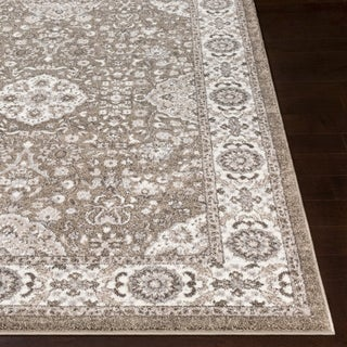 "Percival Grey Traditional Area Rug - 5'3"" x 7'3"""