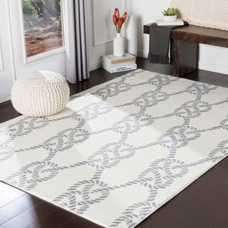"Jessamine Cream Nautical Rope Area Rug - 9'3"" x 12'6"""