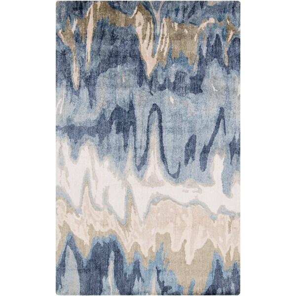 Hand-Tufted Gabriel Abstract Banana Silk Area Rug - 6' x 9'