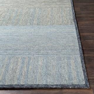 "Isocrates Handmade Modern Wool Area Rug - 5' x 7'6"""