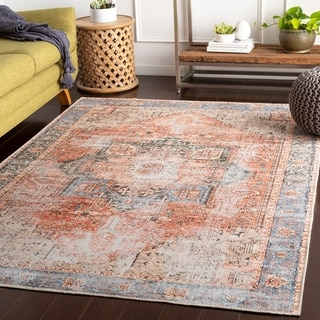 Link to Zakariya Rose Vintage Medallion Accent Rug Similar Items in Rugs