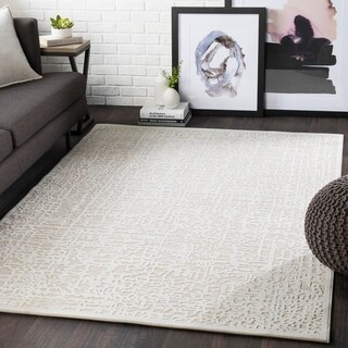 "Errol Beige Transitional Abstract Area Rug - 5'2"" x 7'3"""