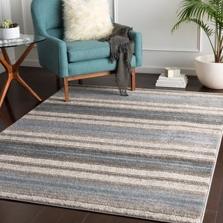 "Parsifal Blue Casual Stripes Area Rug - 5'3"" x 7'3"""