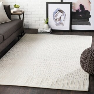 "Willie Beige Boho Chenille Area Rug - 5'2"" x 7'3"""