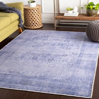 Reneer Purple Vintage Medallion Accent Rug - 2' x 3'
