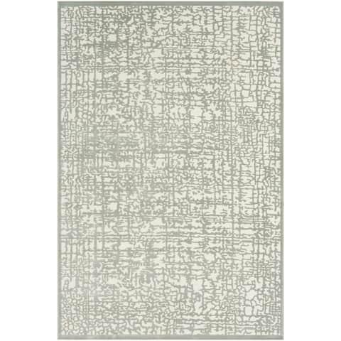 "Errol Sage Transitional Abstract Area Rug - 6'7"" x 9'6"""