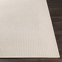 "Shaffer Ivory Bordered Indoor / Outdoor Area Rug - 5'3"" x 7'6"""