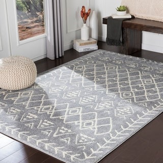 Xia Grey Bohemian Nomad Accent Rug - 2' x 3'