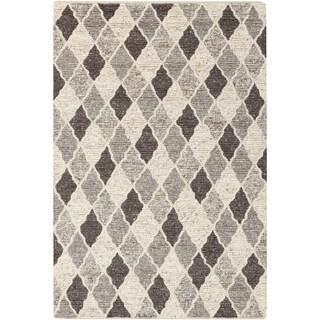 Hand-Woven Samir Moroccan Trellis Wool Area Rug - 6' x 9'