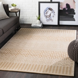 "Willie Khaki Boho Chenille Area Rug - 5'2"" x 7'3"""