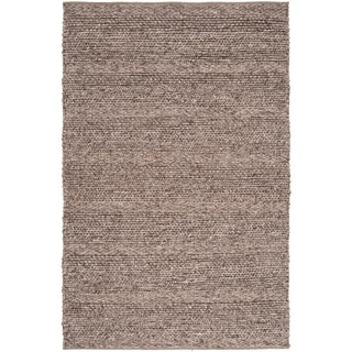 Hand-woven Casual Solid Bedford Wool Area Rug - 6' x 9'
