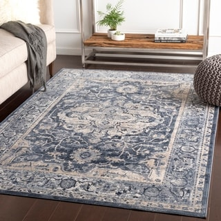 "Kalea Grey Traditional Area Rug - 6'7"" x 9'6"""