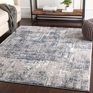 "Shonda Blue & Grey Traditional Oriental Area Rug - 5'3"" x 7'3"""