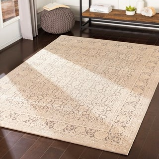 "Emaline Grey Chenille Traditional Area Rug - 5'2"" x 7'3"""