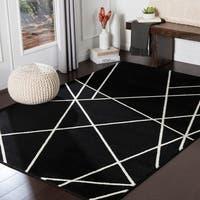 "Sybella Black Modern Area Rug - 5'3"" x 7'3"""