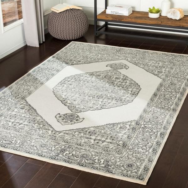 "Ariadne Grey Chenille Vintage Persian Area Rug - 6'7"" x 9'6"""
