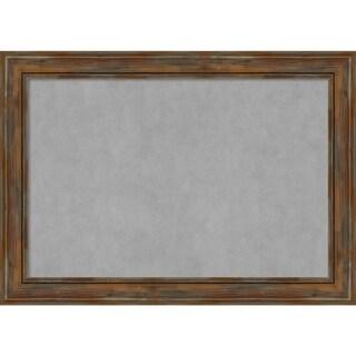 Framed Magnetic Board, Alexandria Rustic Brown