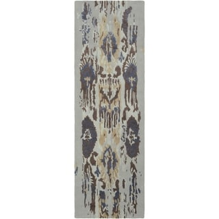 "Porch & Den Anzalone Brown Hand-tufted Wool Runner - 2'6"" x 8' Runner"