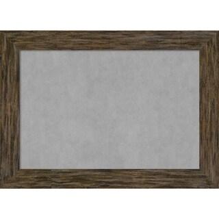 Framed Magnetic Board, Fencepost Brown