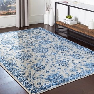 "Kaelea Blue Traditional Area Rug - 5'3"" x 7'3"""