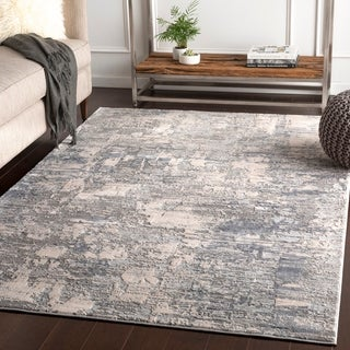 """Willamar Grey Modern Abstract Area Rug - 6'7"""" x 9'6"""""""