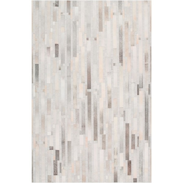 Hand-Crafted Euclid Viscose/Leather Area Rug - 6' x 9'