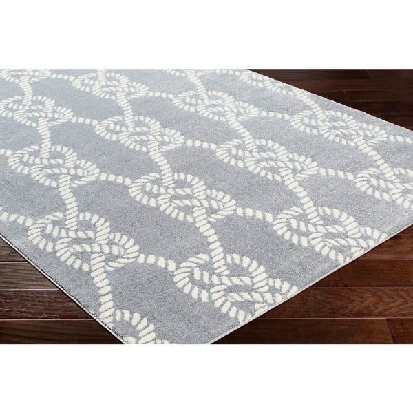 Porch Den Kaybern Grey Nautical Rope Area Rug 6 7 X 9 6 Overstock 24046131