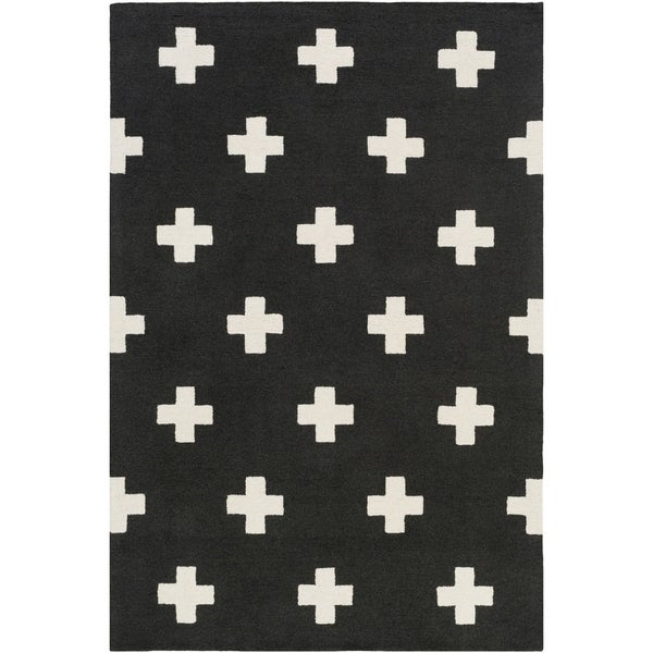 Hand-Tufted Pall Wool Rug - 2' x 3'