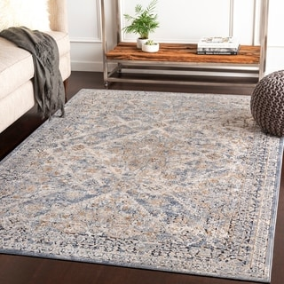 "Klimentina Grey Traditional Area Rug - 6'7"" x 9'6"""