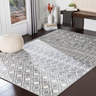 The Curated Nomad District Grey Boho Area Rug - 5'3 x 7'3