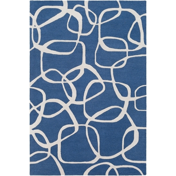 Hand-Tufted Pesren Wool Accent Rug - 2' x 3'