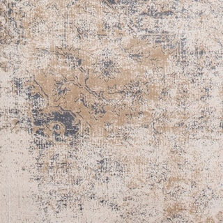 "Valeri Taupe Distressed Traditional Area Rug - 6'7"" x 9'6"""
