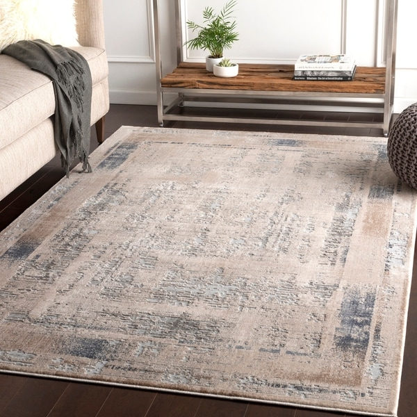 Marjan Ivory Distressed Border Accent Rug - 2' x 3'
