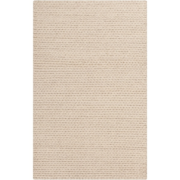 Hand-Woven Gerard Country Felted Wool Area Rug - 6' x 9'