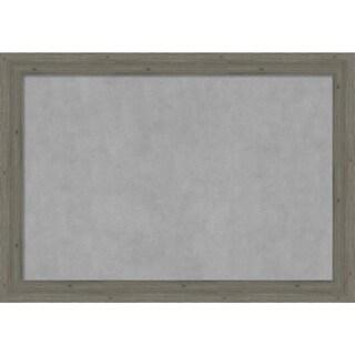 Framed Magnetic Board, Fencepost Grey Narrow