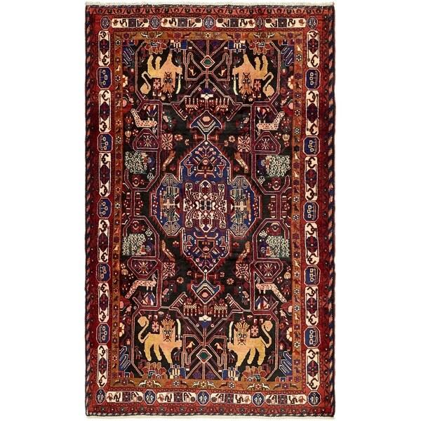 Hand Knotted Nahavand Wool Area Rug - 5' 6 x 9' 6