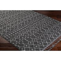 "Laci Moroccan Patterned Tassel Runner - 2'7"" x 7'3"""