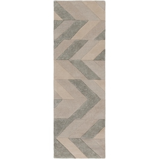 "Hand-Tufted Ancren Wool Runner - 2'6"" x 8' Runner"