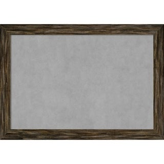 Framed Magnetic Board, Fencepost Brown Narrow