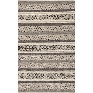 Hand-Woven Roger Chevron Wool Area Rug - 6' x 9'