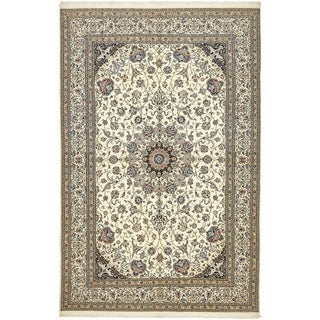 Hand Knotted Nain Silk & Wool Area Rug - 6' 8 x 10' 3